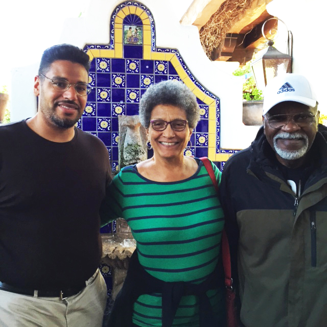 Professors-Darius-Spearman-Roberta-Alexander-welcome-Elbert-'Big-Man'-Howard-to-San-Diego-0615-by-Carole-Hyams-Howard, Rest in power, Elbert 'Big Man' Howard, founding father of the Black Panther Party, World News & Views