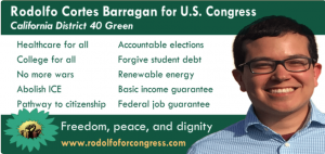 Rodolfo-Cortes-Barragan-for-U.S.-Congress-California-District-40-Green-poster-web-300x142, Running Green in a frontline community, National News & Views
