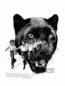 Young-Panthers-on-the-March-art-by-Kevin-Rashid-Johnson-web-229x300, Back to Red Onion State Prison: Rashid's return to the original scene of criminal abuse, Behind Enemy Lines