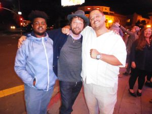 Sorry-to-Bother-You'-premiere-Chioke-Bakari-Damion-Gallegos-Jim-Ellman-Manuel-Riley-Boots'-bro-Grand-Lake-Theater-041218-by-Jahahara-300x225, Reminiscing, and acting, this September!, Culture Currents