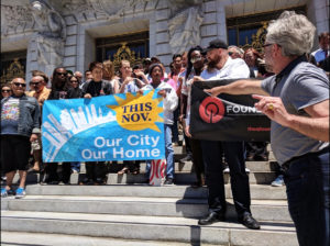 Coalition-on-Homelessness-rallies-City-Hall-steps-after-submitting-28000-ballot-measure-signatures-070918-by-Ian-Williams-SF-Examiner-300x224, 'You wash us away, but we're still here': Homeless funding initiative headed for November ballot, Local News & Views