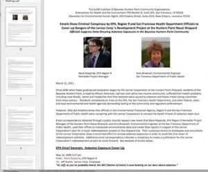 Emails-show-criminal-conspiracy-by-EPA-SF-DPH-to-cover-up-dangers-of-Lennars-Hunters-Point-Shipyard-project-screenshot-300x249, Hunters Point Shipyard: A few caring people are changing the world, Local News & Views