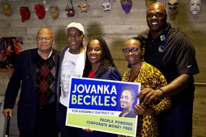 Former-Berkeley-Mayor-Gus-Newport-Danny-Glover-Jovanka-Beckles-Nina-Turner-former-Warrior-Adonal-Foyle-backstage-at-rally-092218-by-Luke-Thibault-web-300x200, Race and cash in the Assembly 15 campaign: Jovanka Beckles breaks the mold, Local News & Views