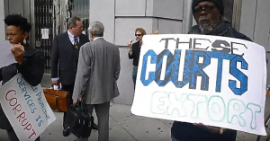 Parents-Against-CPS-Corruption-PACC-rally-outside-SF-Superior-Ct-110317-The-courts-extort-CPS-is-corrupt-300x157, Judge Rebecca Hardie allows Contra Costa CPS social worker to commit perjury, Local News & Views