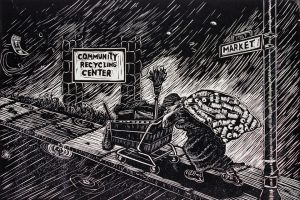 Woman-at-Work-Community-Recycling-Center-by-Ronnie-Goodman-300x200, Premier San Francisco artist Ronnie Goodman arrested, charges dropped, but artwork confiscated by city, Local News & Views