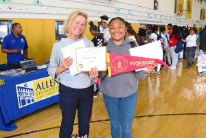 HBCU-Fair-Andrea-Combet-daughter-admitted-to-Harris-Stowe-Tuskegee-and-Hampton-at-Mission-HS-091018-by-Don-Bowden-web-300x201, Hundreds of students at HBCU Fair gain sense of hope and head start for college admissions, Local News & Views