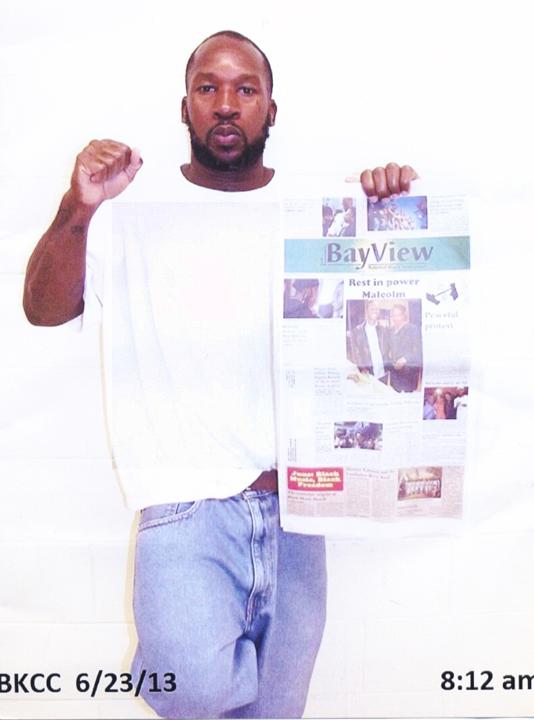 Uhuru-Baraka-Rowe-aka-Brian-Lee-Rowe-w-SF-Bay-View-ppr-web, Pen Pals: Find a friend behind enemy lines, Pen Pals