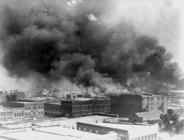 The Tulsa Race Massacre (also known as the Tulsa Race Riot) occurred over an 18 hour period on May 31-June 1, 1921, during which a white mob attacked residents, homes and businesses in the predominantly Black Greenwood neighborhood of Tulsa, Oklahoma. Hundreds were killed during the 1921 massacre.