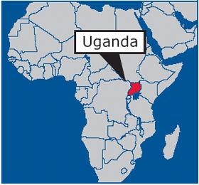 Map of Africa highlighting Uganda | San Francisco Bay View
