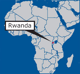 Rwanda in Africa map | San Francisco Bay View