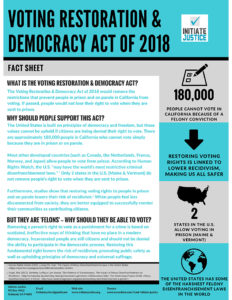 California-Voting-Restoration-Democracy-Act-of-2018-fact-sheet-232x300, Outside support grows as prison resistance continues with ongoing strikes and prisoner-led initiatives, Behind Enemy Lines