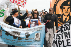 Occupy-San-Quentin-Melvin-Dickson-Gerald-Sanders-Jabari-Shaw-Ibrahim-Moss-022012-1-by-Malaika-web-300x200, In honor of beloved elder Melvin Dickson, 1940-2018, publisher of The Commemorator, Culture Currents