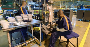 Prison-labor-makes-all-Michigan-license-plates-at-Gus-Harrison-CF-by-J.-Scott-Park-AP-web-300x158, Slave labor, from the pyramids to the prisons, Behind Enemy Lines