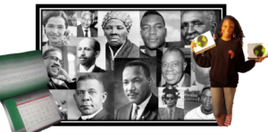 Amani-Sawari-pitching-OurStory-Calendar-montage-of-Black-history-makers-web-300x148, Separate can be equal: OurStory Matters, Black Dollars Matter, Culture Currents