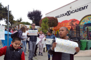 Malcolm-X-Academy-Walkathon-marchers-head-out-052418-by-Rob-Waters-SF-Public-Press-300x199, The battle for Bayview's public schools, Local News & Views