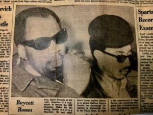 NYC-newspaper-clipping-Boycott-Bosses-re-Olympics-boycott-pictures-Harry-Edwards-H.-Rap-Brown-021268-300x225, About Jamil Al-Amin (H. Rap Brown) and the 1968 Olympic protest: An interview with Dr. Harry Edwards, World News & Views