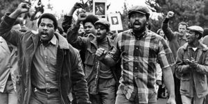 SF-State-Strike-Black-students-lead-march-fists-raised-1968-by-Terry-Schmitt-300x150, 1968: The strike at San Francisco State, Local News & Views