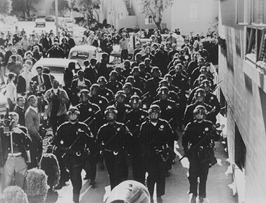 SF-State-Strike-SF-riot-police-march-onto-campus-1968-by-Terry-Schmitt, 1968: The strike at San Francisco State, Local News & Views