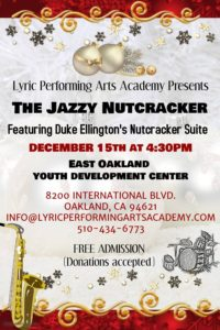The-Jazzy-Nutcracker-poster-121518-200x300, Lyric Performing Arts Academy presents 'The Jazzy Nutcracker', Culture Currents