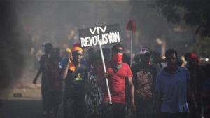 Viv-Revolisyon-Haitians-protest-Petrocaribe-corruption-111818-by-Press-TV-300x168, Merten, mercenaries, marionettes and the media blackout on Haiti, World News & Views
