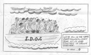 Were-All-in-the-Same-Boat-art-by-Arkee-Chaney-web-300x182, Shaka Shakur: Reawakening a sleeping giant, Behind Enemy Lines