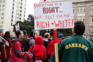 Education-is-a-right-not-just-for-the-rich-white'-teachers-protest-OUSD-in-front-of-Oakland-City-Hall-121018-by-Jana-Asenbrennerova-SF-Chron-300x200, OUSD this Friday: A 'Day Without Educators', Local News & Views