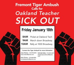 Fremont-Tiger-Ambush-Sick-Out-011819-flier-300x267, Fremont High teachers call another OUSD sick-out, Local News & Views