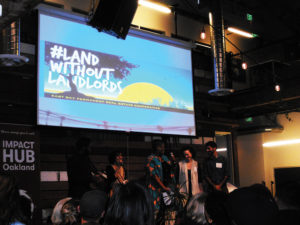 LandWithoutLandlords-cooperative-economics-meeting-at-Oakland's-Impact-Hub-1218-by-Jahahara-web-300x225, Four hundred years, 5859-6259 AAC (1619-2019 JC-PG): 'James-town,' the '13 colonies,' ucptsa and Africans' freedom, Culture Currents
