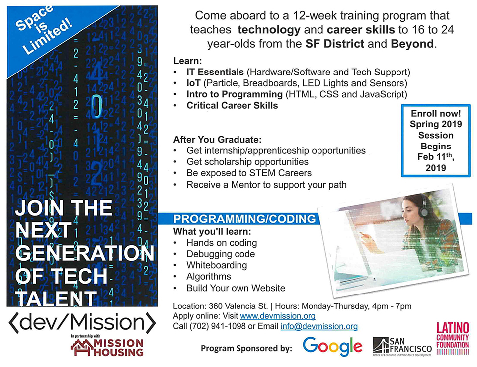 Mission-Housing-opportunities-1-2, Join the next generation of tech talent - training for 16-24-year-olds starts Feb. 11, Opportunities