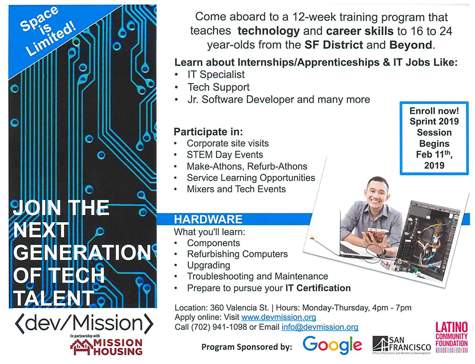 Mission-Housing-opportunities-2, Join the next generation of tech talent - training for 16-24-year-olds starts Feb. 11, Opportunities