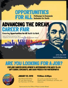 Opportunities-for-All-Career-Fair-flier-012319-232x300, San Francisco Mayor London Breed's 'Opportunities for All' initiative kicks off with career fair aimed at providing city's youth with real job opportunities and platform for enhancing job preparedness skills, Local News & Views