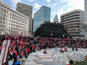 Teachers-rally-Oscar-Grant-Ogawa-Plaza-supporting-teachers'-strikes-in-LA-next-month-Oakland-011219-by-Muna-Danish-KQED-300x225, Fremont High teachers call another OUSD sick-out, Local News & Views