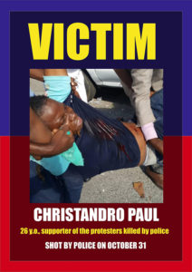 Victim-Christandro-Paul-Haiti-Action-Committee-poster-1218-web-212x300, California high school and college students stand with Haitian students, World News & Views