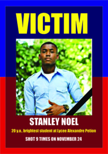 Victim-Stanley-Noel-Haiti-Action-Committee-poster-1218-web-212x300, California high school and college students stand with Haitian students, World News & Views