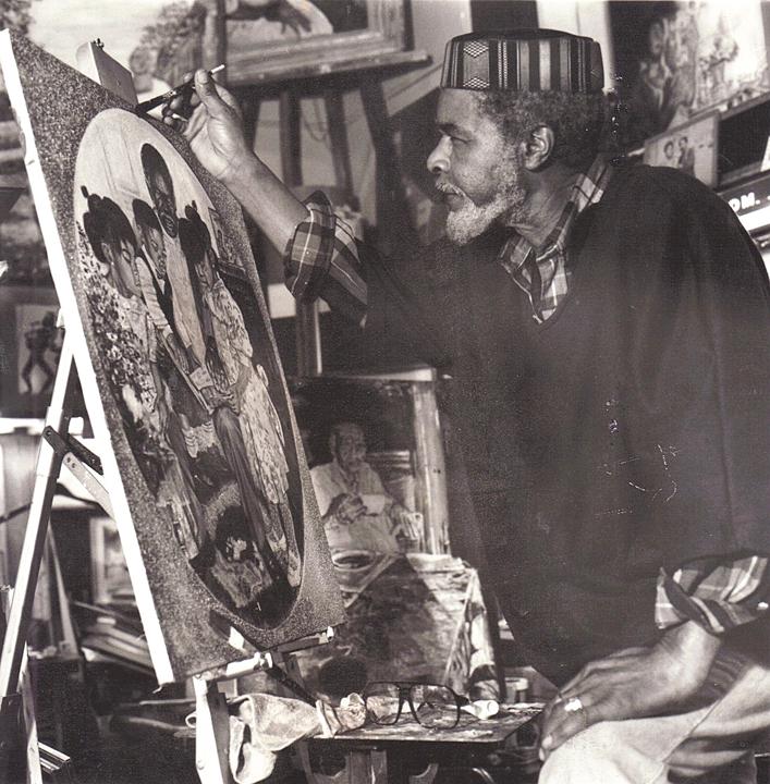 Eugene-White-artist-at-work-web, Beloved artist Eugene E. White passes, Culture Currents