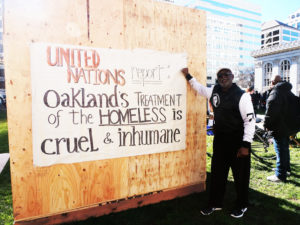 Jahahara-endorses-'UN-report-Oakland's-treatment-of-the-homeless-is-cruel-inhumane'-sign-MLK-Day-Oakland-012119-by-Jahahara-web-300x225, Celebrating Alkebulan: African love, Black joy, resistance and futures!, Culture Currents