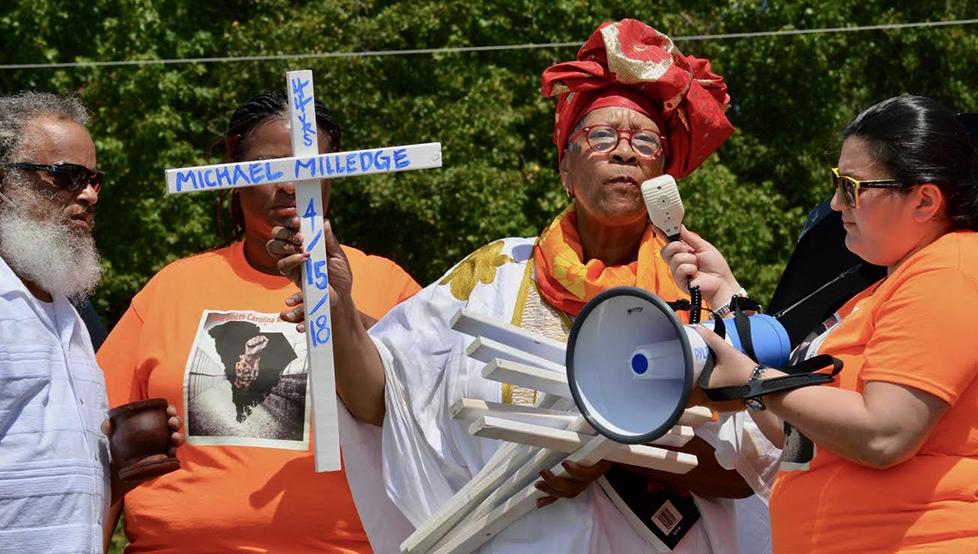 Mama-Efia-Nwangaza-speaks-at-Free-South-Carolina-Movement-rally-082518-web, Introducing the Free South Carolina Movement, Behind Enemy Lines