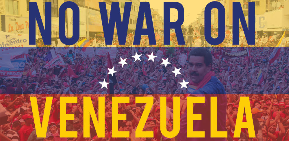 No-War-on-Venezuela-banner, Urgent message to the political and social forces of the continent: Stop Trump's onslaught in Venezuela, World News & Views