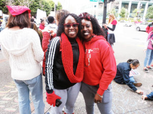 Oakland-teacher-sick-out-Fremont-Tiger-Ambush-organizers-Kehinde-Salter-Taiwo-Kujichagulia-Seitu-at-rally-OUSD-HQ-011819-by-Jahahara-web-300x225, Celebrating Alkebulan: African love, Black joy, resistance and futures!, Culture Currents