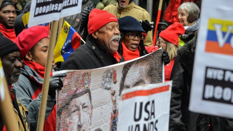 USA-Hands-Off-Venezuela-march-on-Wall-Street-022319-by-nowaronvenezuela.org_, Urgent message to the political and social forces of the continent: Stop Trump's onslaught in Venezuela, World News & Views