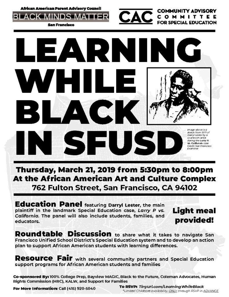 Learning-While-Black-0319-1-pdf-791x1024, How can San Francisco support its most vulnerable Black residents? Help them succeed at school, Local News & Views