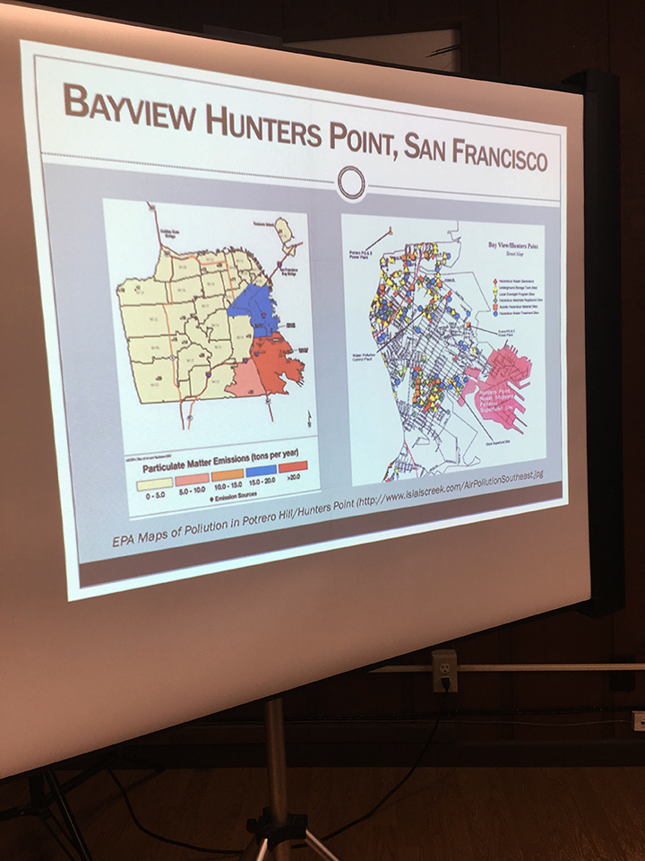 Map-showing-particulate-emissions-in-red-concentrated-in-BVHP, Eyes wide open at the Hunters Point Shipyard, Local News & Views