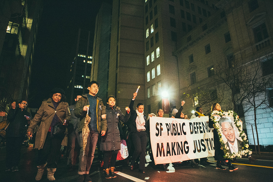 Memorial-March-Vigil-for-Public-Defender-Jeff-Adachi-7th-Bryant-to-City-Hall-022719-by-Samuel-Albillo-web, March and vigil for Jeff Adachi honor his 'warrior spirit' and fearless truth-telling, vow to move forward, Local News & Views