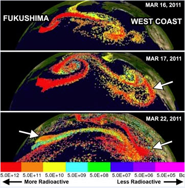 NOAA-HYSPLIT-Model-of-Plume-of-Airborne-Radiation-CS-137-from-Fukushima-Daiichi, The future of all life: Indigenous sovereignty and the Fukushima nuclear disaster, World News & Views