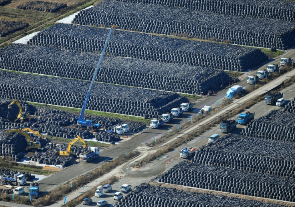 Piles-of-bagged-Fukushima-radioactive-soil-nuclear-waste-by-The-Mainichi, The future of all life: Indigenous sovereignty and the Fukushima nuclear disaster, World News & Views