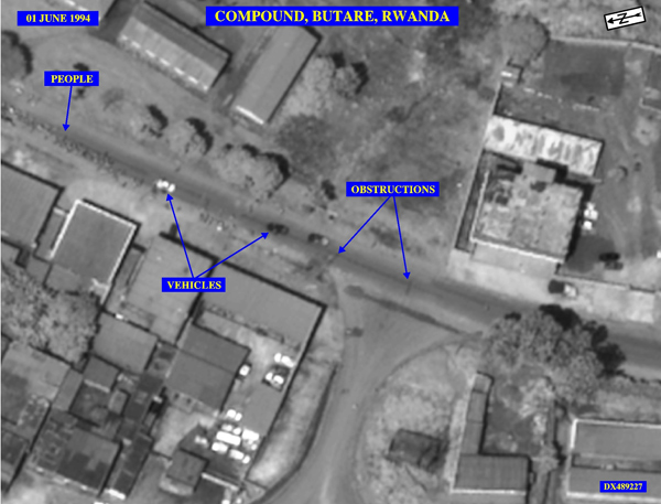 Compound-Butare-Rwanda'-declassified-Pentagon-photo-shows-nonexistent-roadblocks-060194-produced-in-US-v-Prudence-Kantengwa, Rwanda: 25 years on, U.S. taxpayers paying millions for Homeland Security's sham 'Genocide Fugitive' trials in Boston, World News & Views