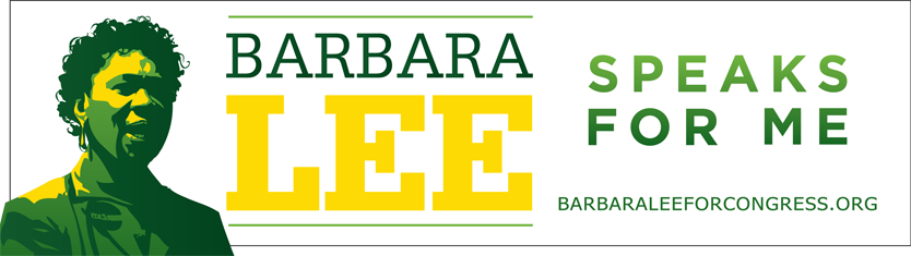 Barbara-Lee-speaks-for-me-campaign-bumper-sticker-1, Vets for Peace to Barbara Lee: Support Manning and Assange, World News & Views