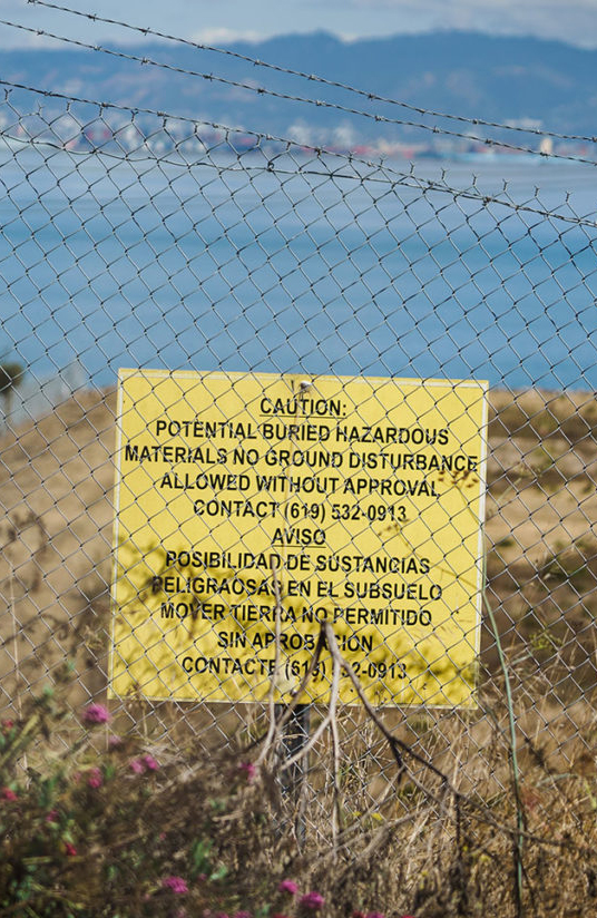 Hunters-Point-Shipyard-sign-Caution-Potential-buried-hazardous-materials-by-Dan-Chambers-SF-Examiner-web-cropped, Advancing environmental public health through implementation of a Biomonitoring Program at the Hunters Point Shipyard, a federal Superfund site, Local News & Views