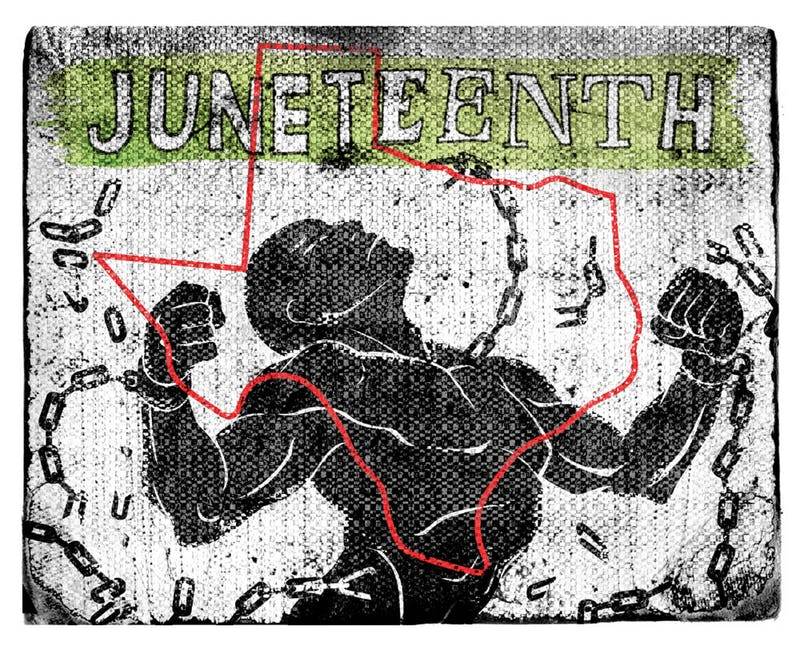 Juneteenth-art-by-Michael-Hogue-Dallas-Morning-News, Juneteenth, second annual day of solidarity to end prison slavery, National News & Views