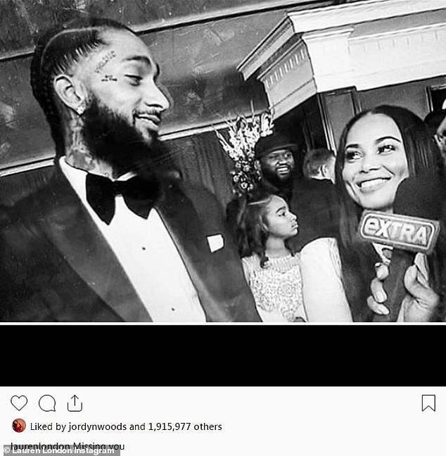 Nipsey-Hussle-Lauren-London-bw, Nipsey Hu$$le, a rose from concrete, Culture Currents